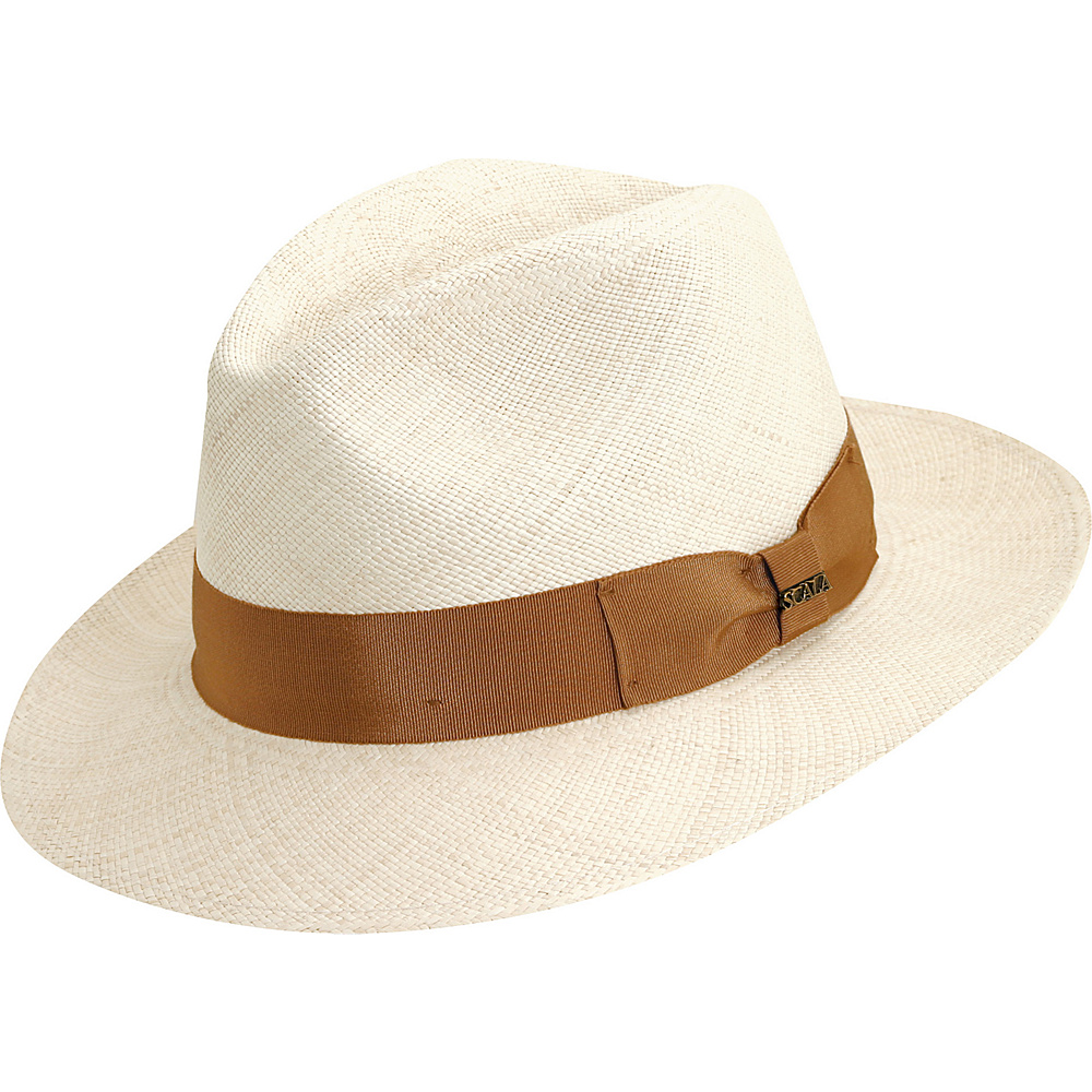 Scala Hats Panama Safari Hat NATURAL MEDIUM Scala Hats Hats Gloves Scarves