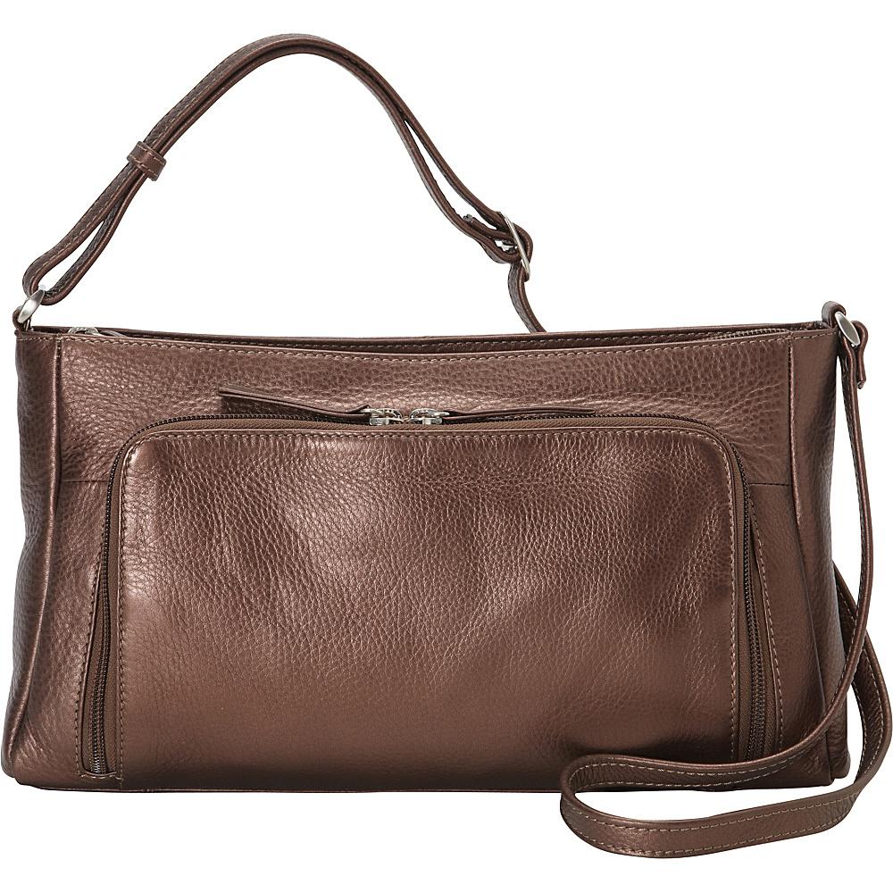 Derek Alexander Small Crossbody with Front Pocket Organizer Bronze - Derek Alexander Leather Handbags - Handbags, Leather Handbags