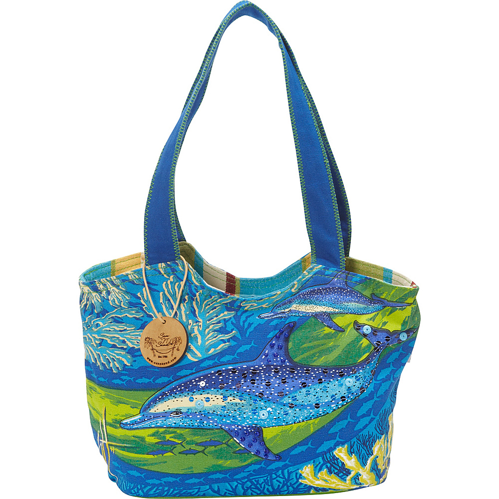 Sun N Sand Noisin Around Shoulder Bag Blue - Sun N Sand Fabric Handbags - Handbags, Fabric Handbags