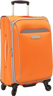 Swiss Cargo TruLite 20 inch Carry-On Spinner Orange Silver - Swiss Cargo Softside Carry-On