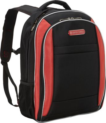 Swiss Cargo SCX21 18 inch Backpack Black Red - Swiss Cargo Business & Laptop Backpacks