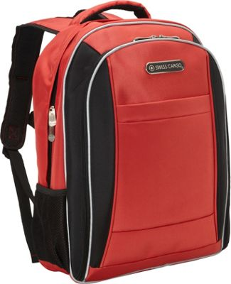 Swiss Cargo SCX21 18 inch Backpack Red Black - Swiss Cargo Business & Laptop Backpacks