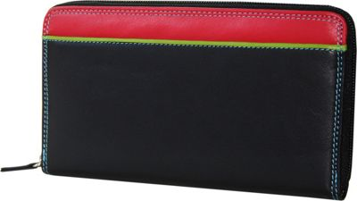 BelArno Zip Clutch Black Rainbow Combination - BelArno Women's Wallets