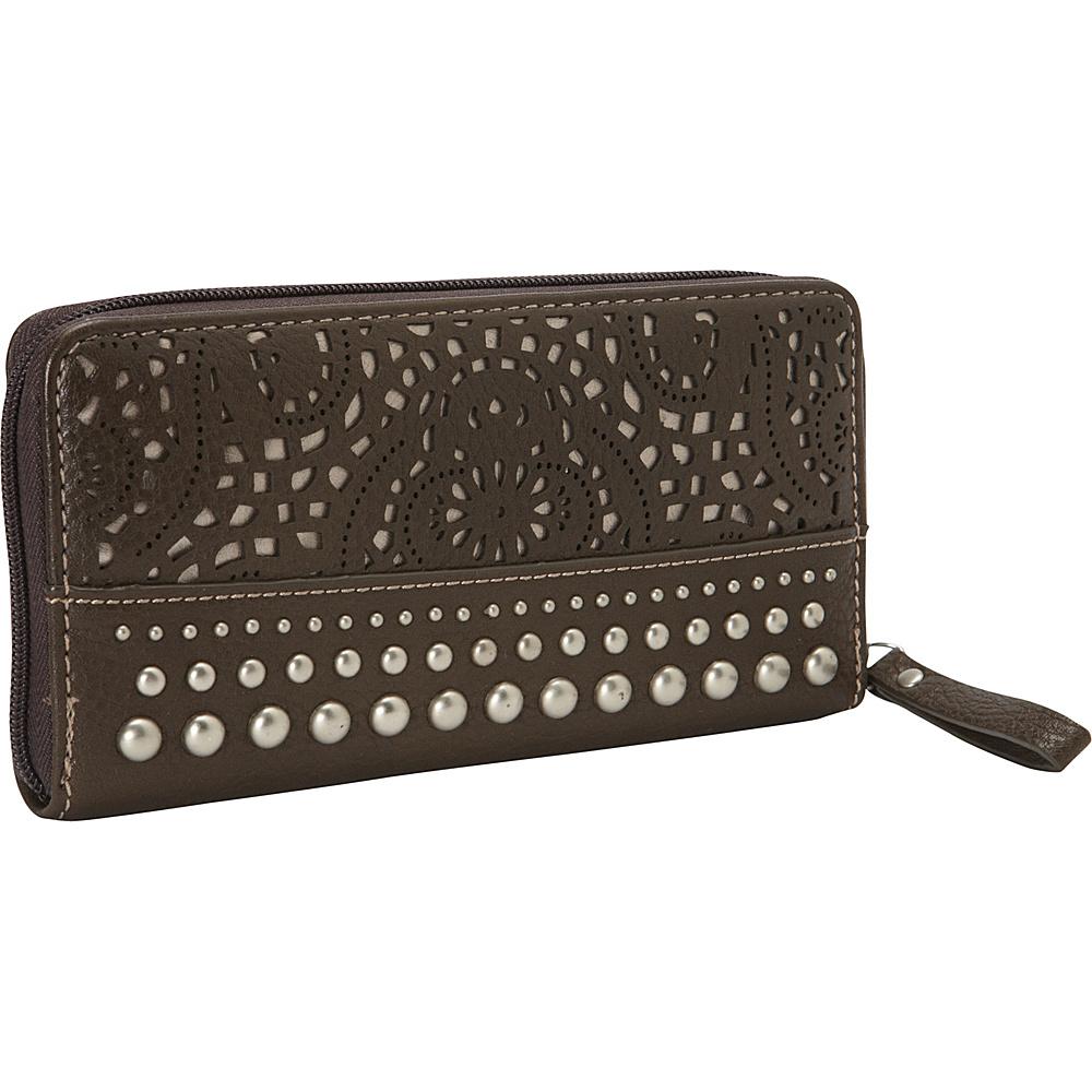 Bandana Mesa Collection Zip around Wallet CHOCOLATE METALLIC Bandana Women s Wallets