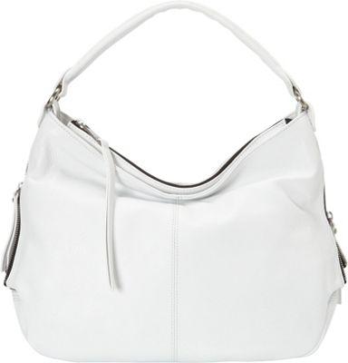 Perlina Anaise Hobo White - Perlina Leather Handbags