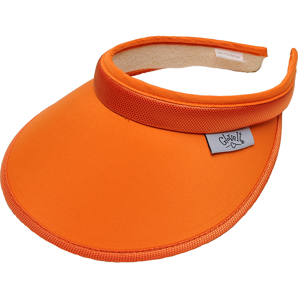 Glove It Women s Solid Slide On Visor Orange Glove It Sports Accessories