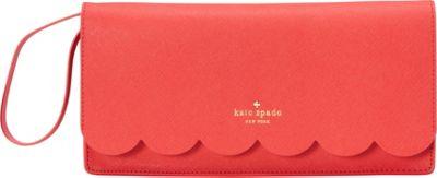 kate spade new york Lily Avenue Kiki Clutch Geranium/Bright Geranium - kate spade new york Designer Handbags