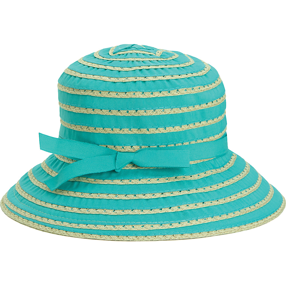 San Diego Hat Kids Ribbon And Paper Straw Bucket Hat Seafoam San Diego Hat Hats Gloves Scarves