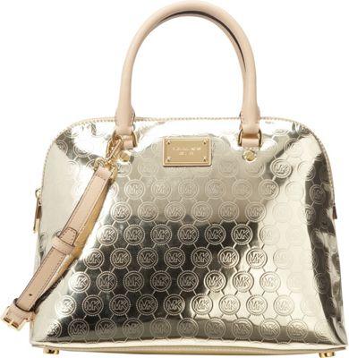 MICHAEL Michael Kors Cindy Large Dome Satchel Pale Gold - MICHAEL Michael Kors Designer Handbags