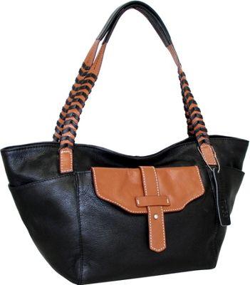 Nino Bossi Rome Around Town Tote Black - Nino Bossi Leather Handbags