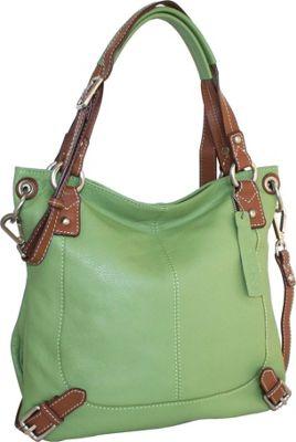 Nino Bossi Torino Top Zip Tote Leaf - Nino Bossi Leather Handbags