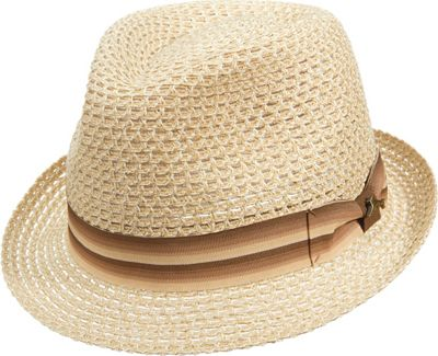 Tommy Bahama Headwear Multi Braid Fedora NATURAL-L/XL - Tommy Bahama Headwear Hats