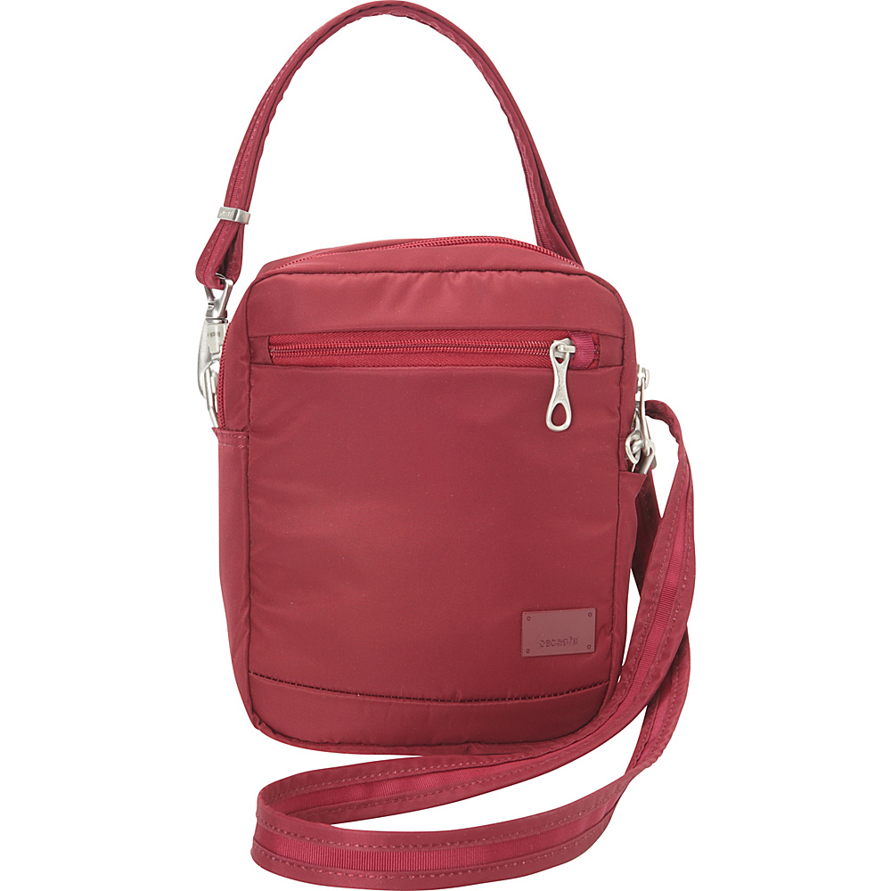 Pacsafe Citysafe CS75 Cranberry Pacsafe Fabric Handbags