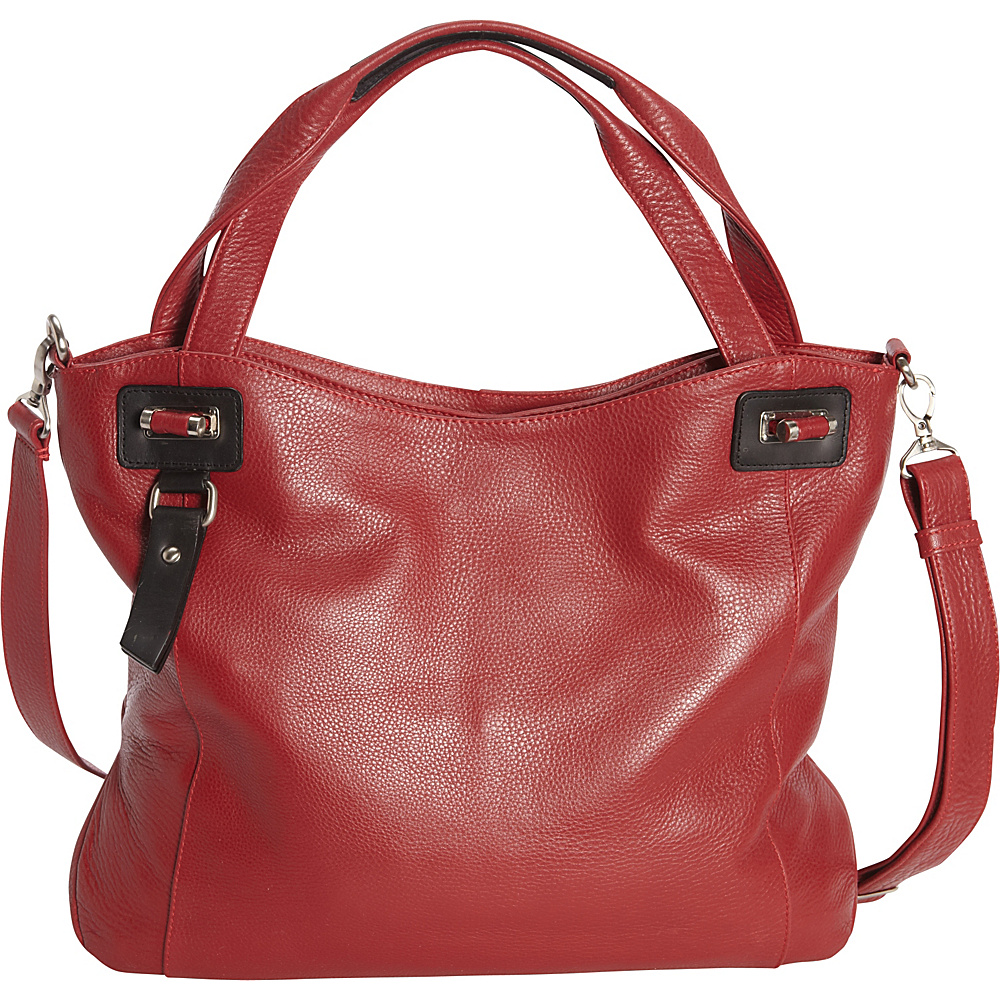 Derek Alexander Large Two Compartment Tote Red/Black - Derek Alexander Leather Handbags - Handbags, Leather Handbags