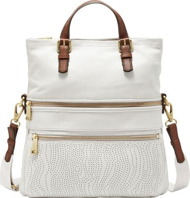 Fossil Explorer Tote Coconut - Fossil Leather Handbags