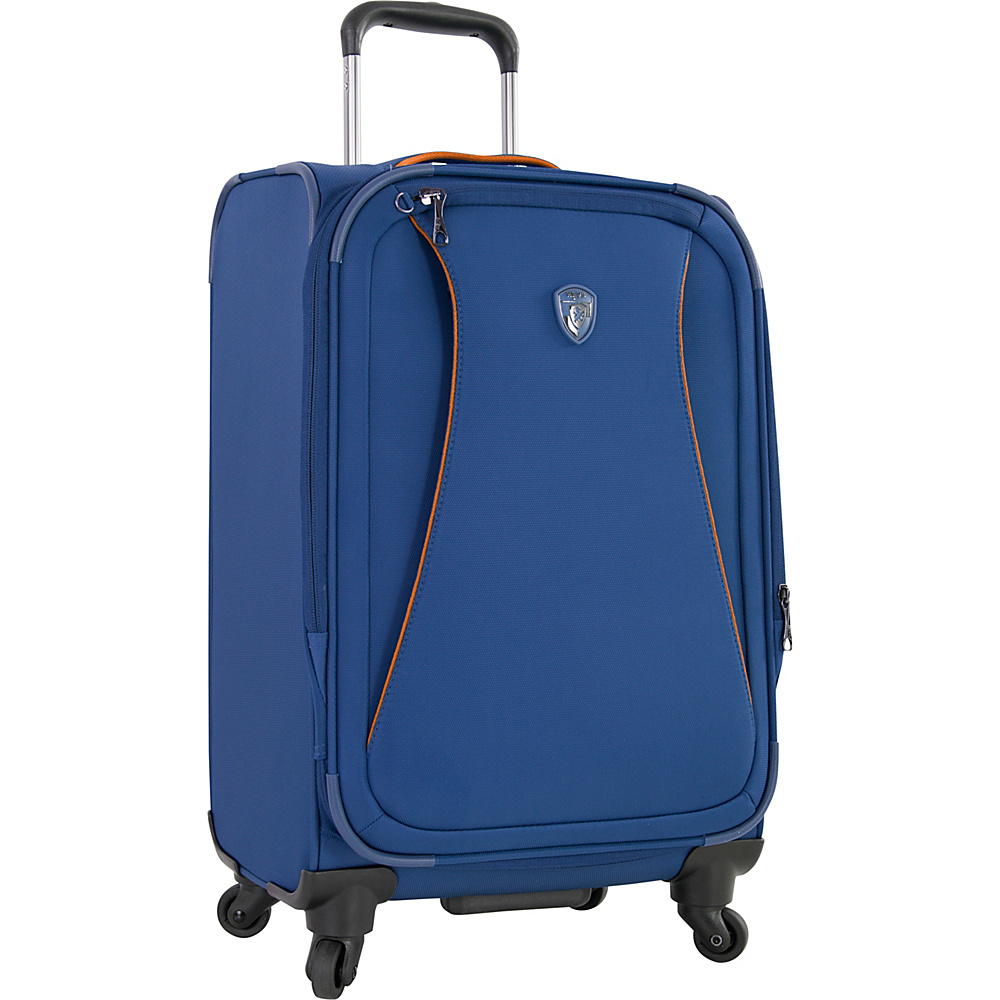 Heys America Helix 21 Carry On Spinner Luggage Blue Heys America Softside Carry On