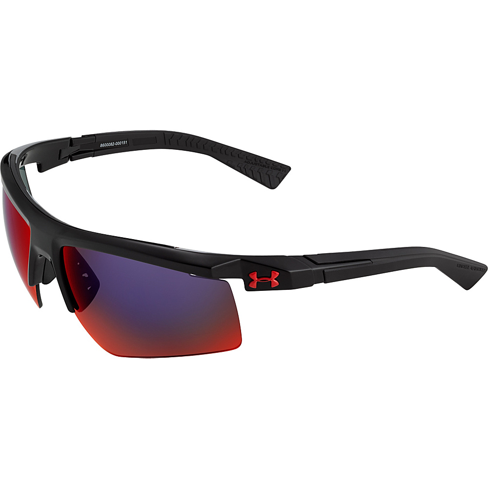 Under Armour Eyewear Core 2.0 Sunglasses Shiny Black Gray Infrared Multiflection Under Armour Eyewear Sunglasses