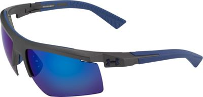 Under Armour Eyewear Core 2.0 Sunglasses Satin Carbon/Gray Blue Multiflection - Under Armour Eyewear Sunglasses
