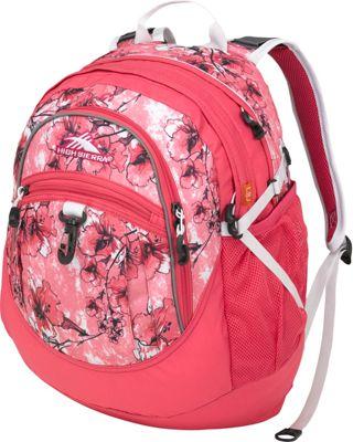 High Sierra Fat Boy Backpack - Women's Summer Bloom/Fuchsia/White - High Sierra School & Day Hiking Backpacks