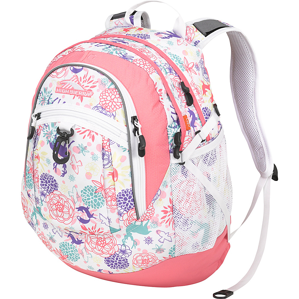 High Sierra Fat Boy Backpack - Women's Wonderland/Pink Lemonade/White - High Sierra Everyday Backpacks