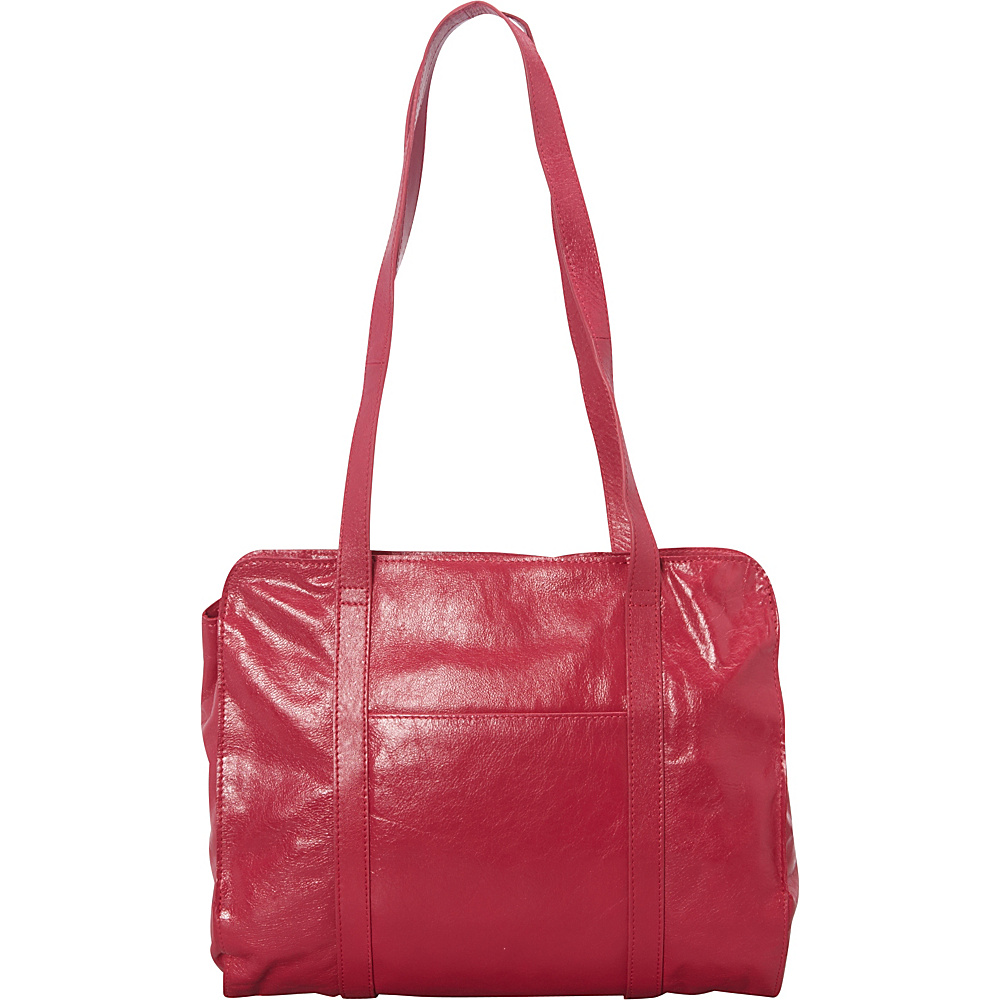 Latico Leathers Delphine Shoulder Bag Fuschia - Latico Leathers Leather Handbags - Handbags, Leather Handbags