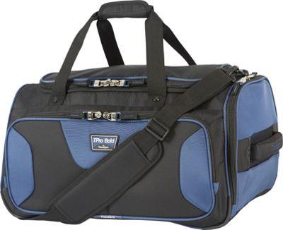 Travelpro T-Pro Bold 2.0 Soft Duffle Black & Blue - Travelpro Travel Duffels
