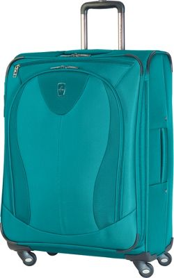 Atlantic Ultra Lite 3 25 inch Expandable Spinner Turquoise - Atlantic Softside Checked