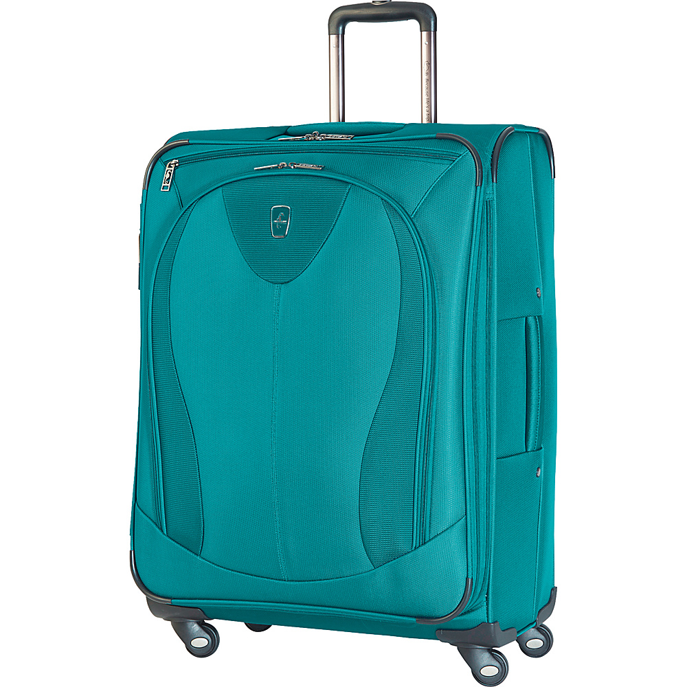 "Atlantic Ultra Lite 3 25"" Expandable Spinner Turquoise - Atlantic Softside Checked"