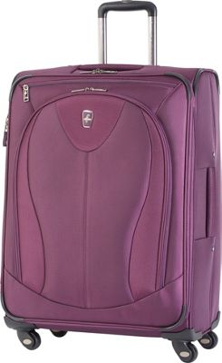 Atlantic Ultra Lite 3 25 inch Expandable Spinner Purple - Atlantic Softside Checked