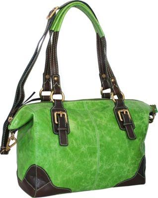 Nino Bossi Soho Satchel Apple Green - Nino Bossi Leather Handbags