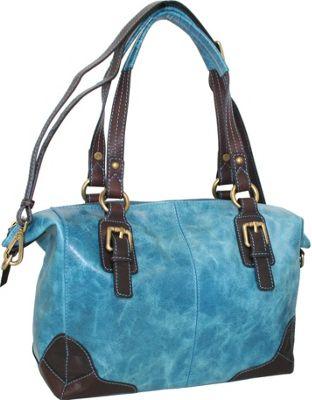 Nino Bossi Soho Satchel Denim - Nino Bossi Leather Handbags