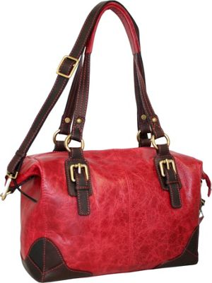 Nino Bossi Soho Satchel Red - Nino Bossi Leather Handbags