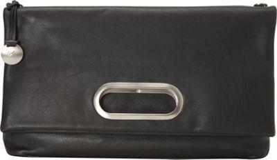 Skagen Ella Leather Fold-Over Satchel Black - Skagen Leather Handbags