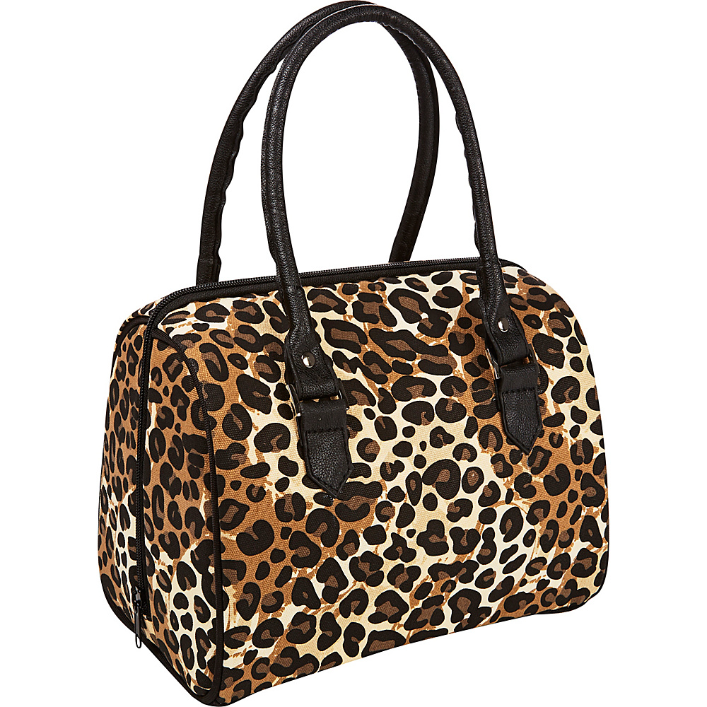 Fit & Fresh Jackson Insulated Lunch Bag Kit with Reusable Containers Natural Cheetah - Fit & Fresh Travel Coolers