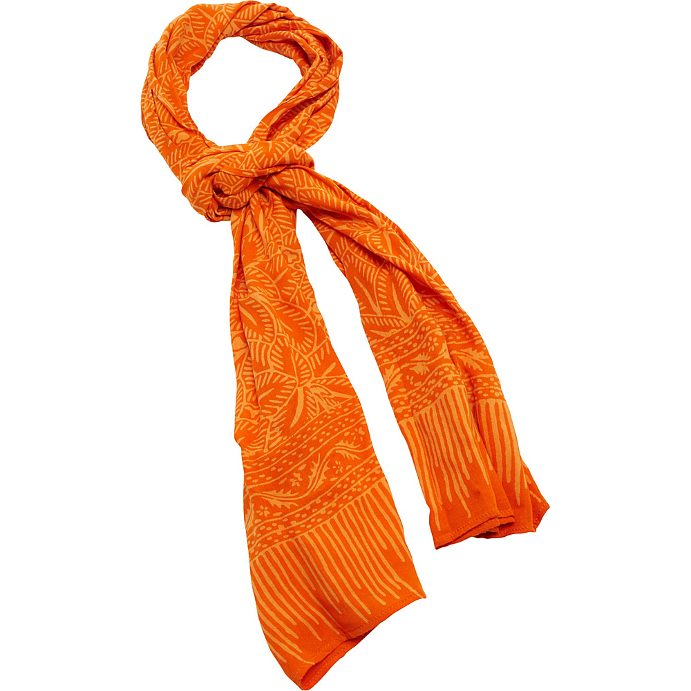 TLC you Batik Scarf Orange TLC you Hats Gloves Scarves