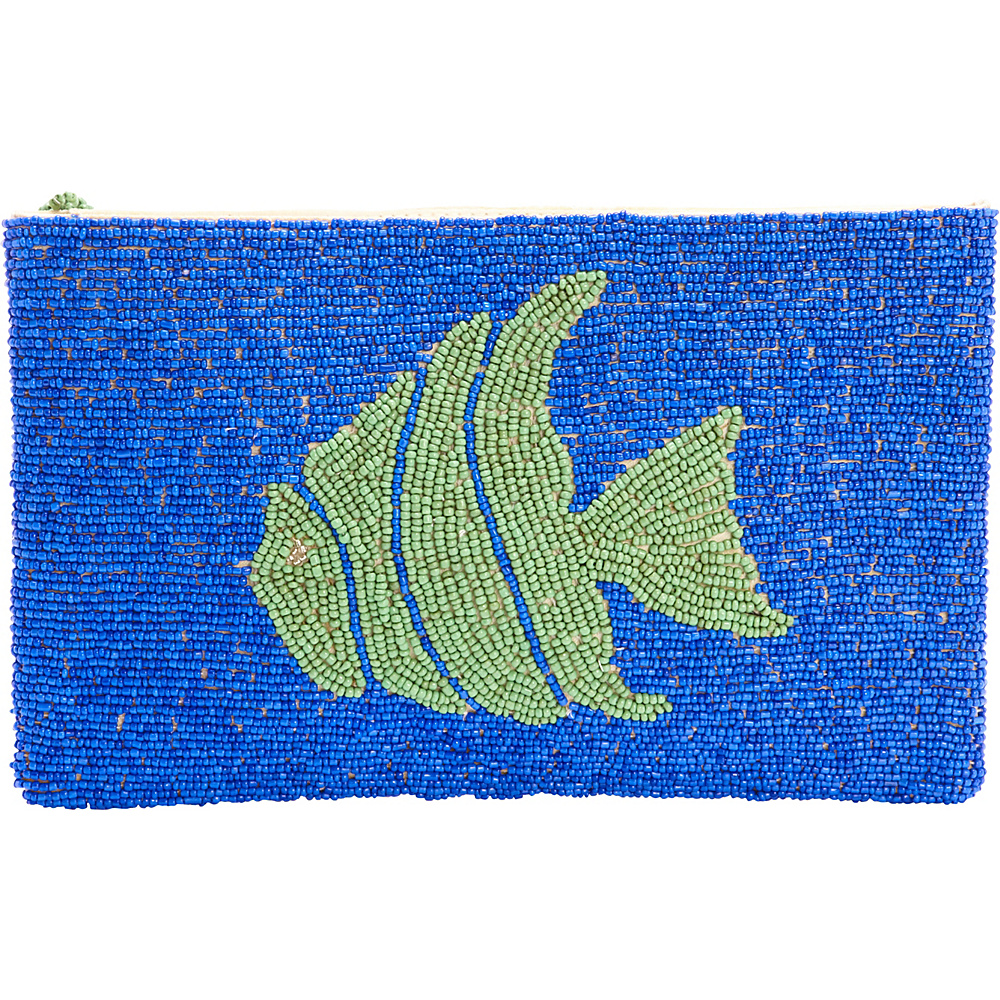 TLC you Tropical Fish Clutch Blue Green TLC you Fabric Handbags