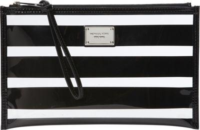 MICHAEL Michael Kors Eliza Large Zip Pouch Black - MICHAEL Michael Kors Ladies Cosmetic Bags