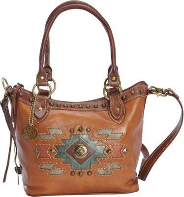 American West Zuni Passage Convertible Bucket Tote Golden Tan - American West Leather Handbags