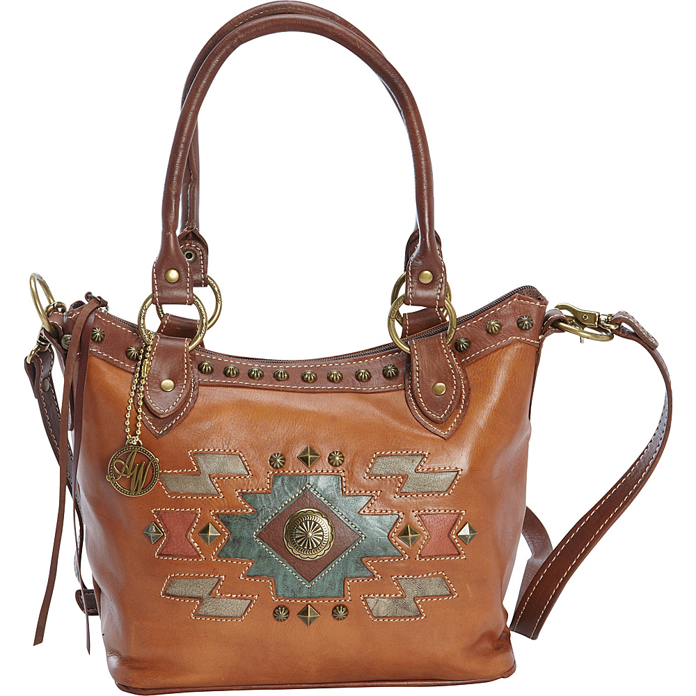 American West Zuni Passage Convertible Bucket Tote Golden Tan American West Leather Handbags