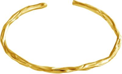 Belcho Jewelry Plain Wrinkled Passion Bangle Gold - Belcho Jewelry Jewelry