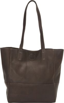 Clava Vertical Kate Tote Vachetta Cafe - Clava Leather Handbags