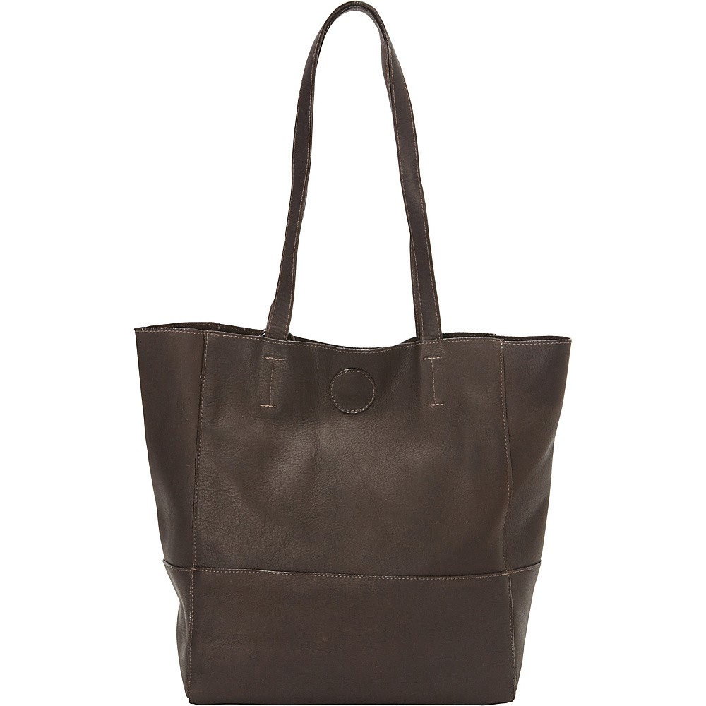 Clava Vertical Kate Tote Vachetta Cafe Clava Leather Handbags