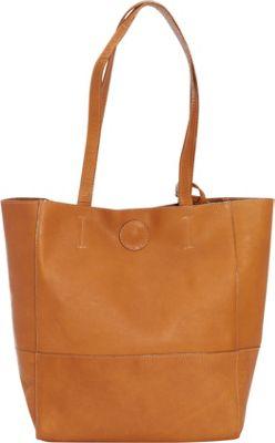 Clava Vertical Kate Tote Vachetta Tan - Clava Leather Handbags