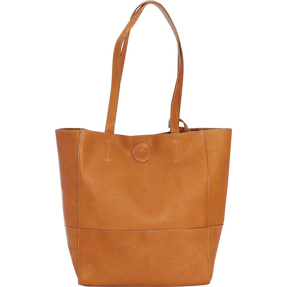 Clava Vertical Kate Tote Vachetta Tan Clava Leather Handbags