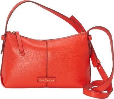 Cole Haan Emma Mini Zip Crossbody Fiery Red - Cole Haan Designer Handbags