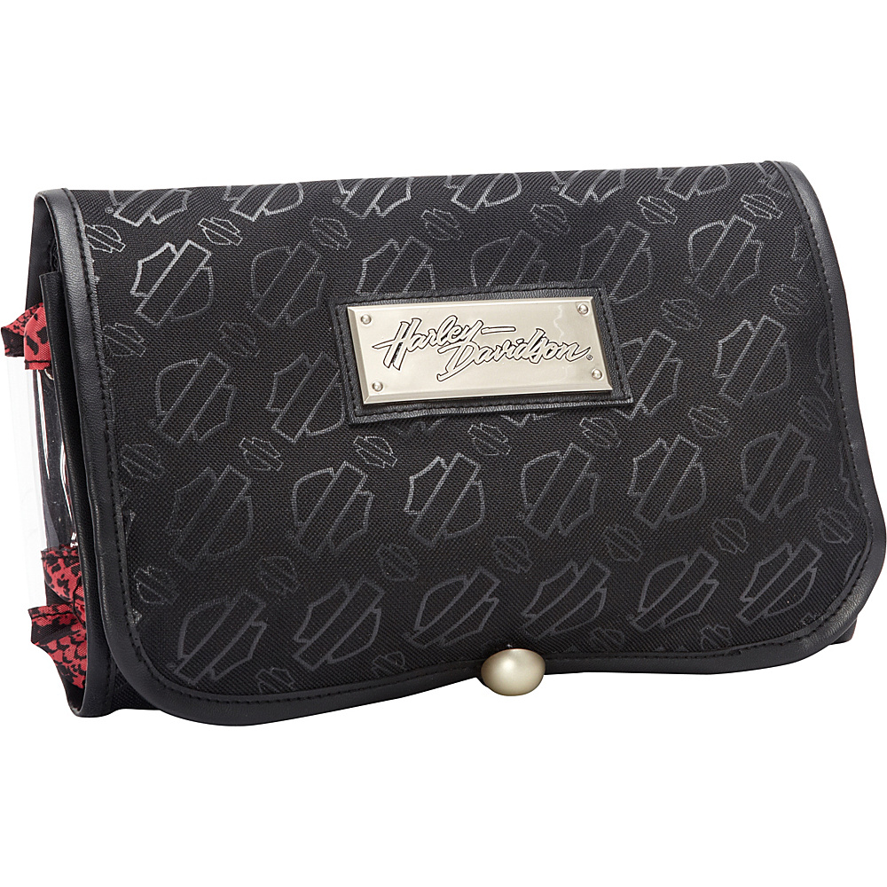 Harley Davidson by Athalon Monogram Hanging Toiletry Kit Black Harley Davidson by Athalon Toiletry Kits