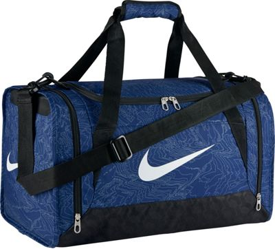 Nike Brasilia 6 Duffel Graphic Small Deep Royal Blue/Black/White - Nike All Purpose Duffels