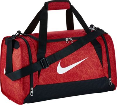 Nike Brasilia 6 Duffel Graphic Small University Red/Black/White - Nike All Purpose Duffels