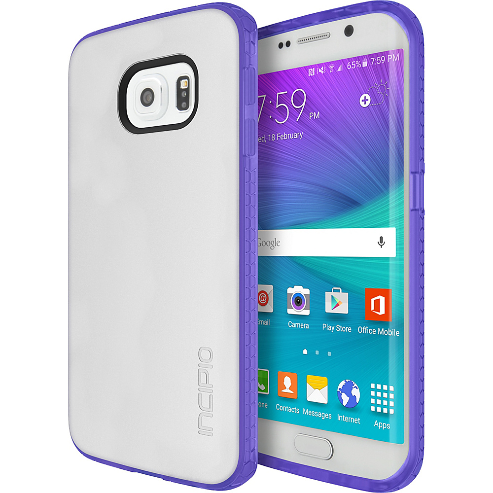 Incipio Octane for Samsung Galaxy S6 Edge Frost/Neon Purple - Incipio Electronic Cases - Technology, Electronic Cases