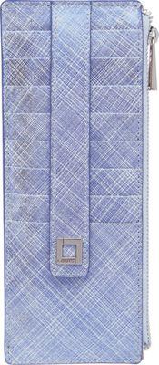 Lodis Sophia Crosshatch Credit Card Case Metallic Lake - Lodis Ladies Key/Card/Coins Cases